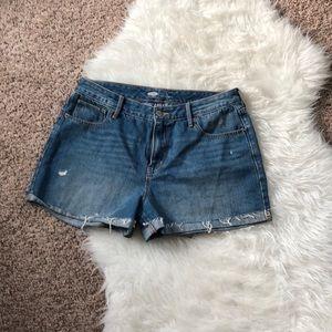 Old navy cuffed cut off shorts